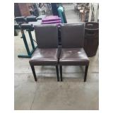 Pr of side chairs