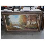Woods scene painting