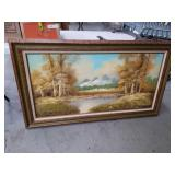 Spring mountain scene painting