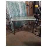 Metal marble top stand