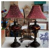 Pair of fancy table lamps