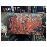 Signed and dated abstract painting