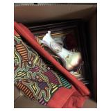 Box with picture, tapestries etc