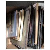 Box of framed pictures