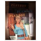 Box with 3 vintage playpoy magazines