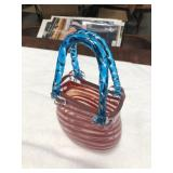 Murano glass hand bag