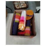 Box of plastic cups