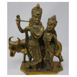Antique bronze sculpture of a married couple and