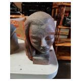 Terracotta bust of a woman