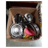 Box of pots and pans