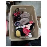 Tub of shoes, Minnie mouse and Sun glasses