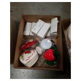 Box of boxes of napkin rings and heart shaped