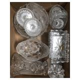 Box of crystal pieces