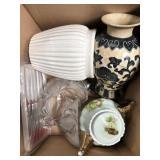 Box of vases, teapot etc
