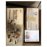 Box of revere copper/stainless steel pot set and