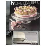 Box of cake plates, casserole dish