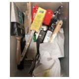 Bin of paintbrushes