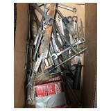 Box of wrenches and ratchets