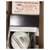 Box with Belgian waffle Baker, Braun juicer,