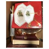 Box of misc serving platters