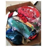 Box of misc scarfs