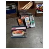Box of kitchen items and thermoses