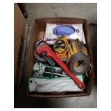 Box of tools and garage items