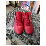 Pair of size 13 red Michael Jordan flight shoes