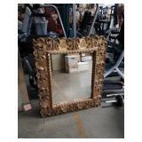 Carved frame wall mirror