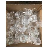 Box of glass cups