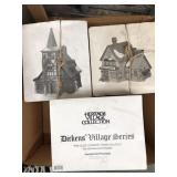 Box of dickens village series porcelain