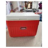 Red ice chest
