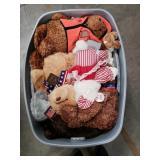 bucket of stuffed animals