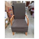 Hi back arm chair
