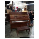 Upright piano  By Shafer & Sons