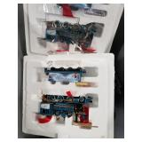 Box of train parts