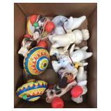 Box of vintage toys, pilsbury, Fisher price
