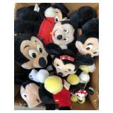 Box of Mickey and Minnie stuffed dolls