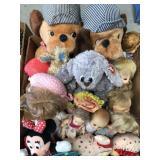 Box of misc dolls/ stuffed animals