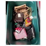 Box of designer bags