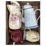 Box of pitchers/teapots