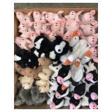 Box of babe stuffed animals