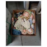 Box of rag dolls