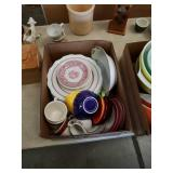 Box of miscellaneous shenango China