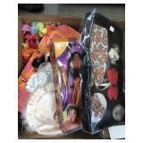 Box of misc barbies, beanie babies etc