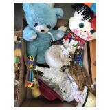 Box of misc dolls