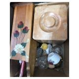 Box of misc perfume, candles etc