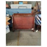 Twin size sleigh bed with rails
