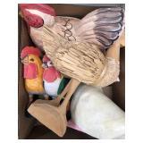 Box of farm animal decor