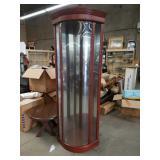Corner cabinet with ground glass door